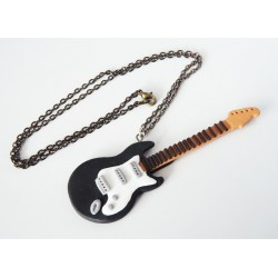 Guitar necklace black and white