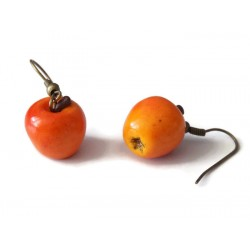 Realistic mini apple earrings