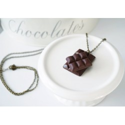 Chocolate tablet necklace