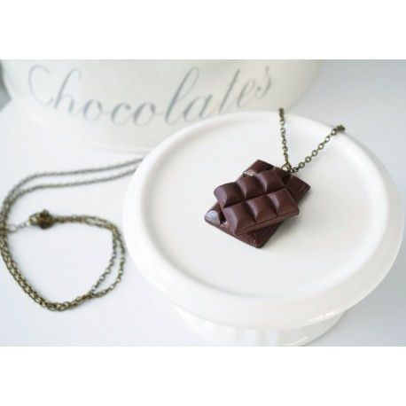 Collier tablette de chocolat