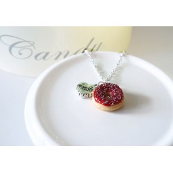 Donut necklace with its coulis and customizable decoration