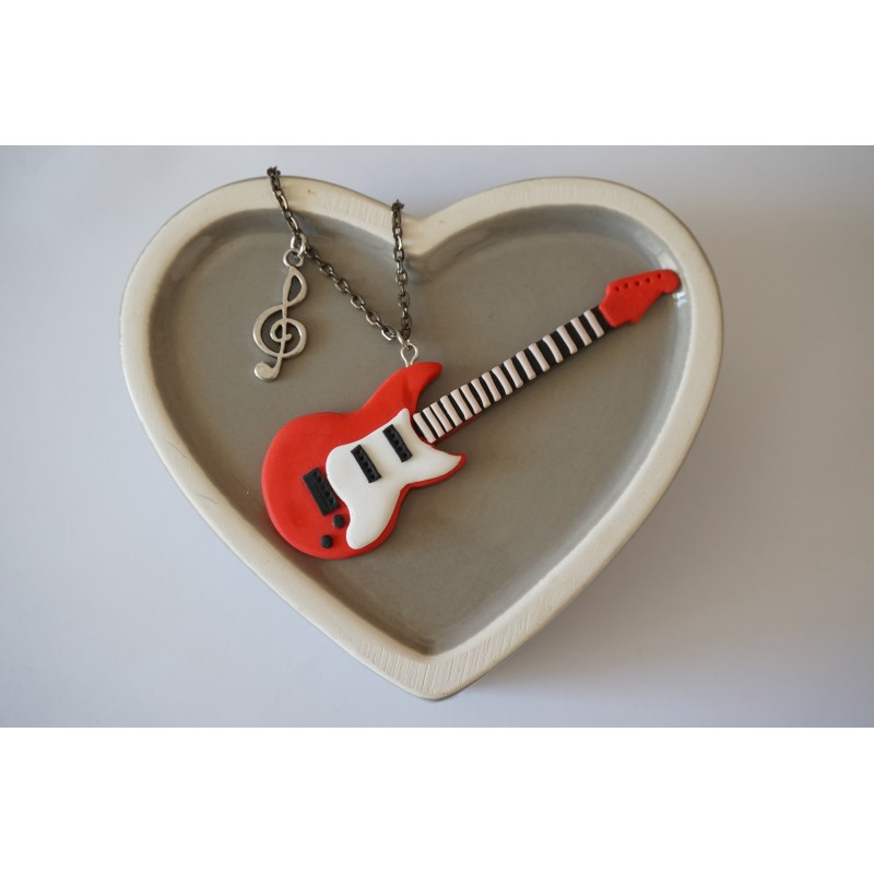 products rock handcut guitar band quarter jewelry electric necklace