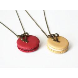 Collier macaron - Différents modèles : bijoux gourmands en pâte polymère