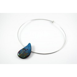 Enchanting necklace - Blue Mushroom