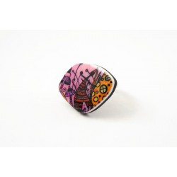 Pink mushrooms enchanting ring