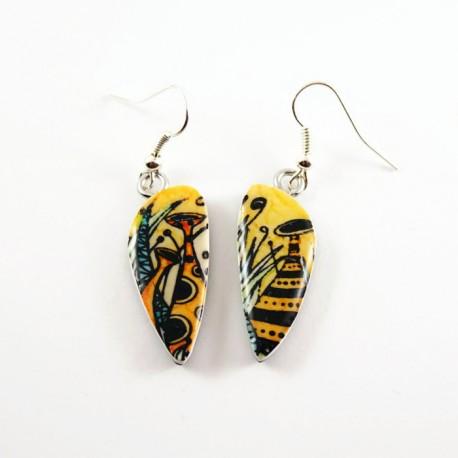 Boucles d'oreilles féériques jaune