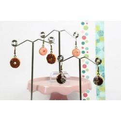 Boucles d'oreilles donut - Plusieurs modèles
