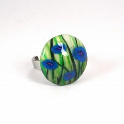 Collier féérique champignon bleu tour de cou