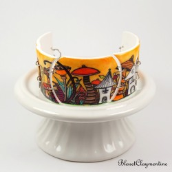 Bracelet féerique forêt enchantée orange