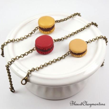 Bracelet macaron - couleur personnalisable pate polymère