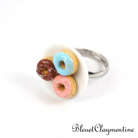 Bague donuts fimo