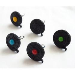 Boucles d'oreilles Réglisse noir et bonbon coloré