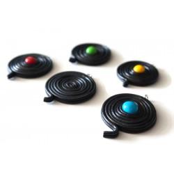 Collier Réglisse noir et bonbon coloré