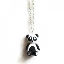 Collier Panda noir et blanc