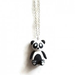 Panda necklace black and white