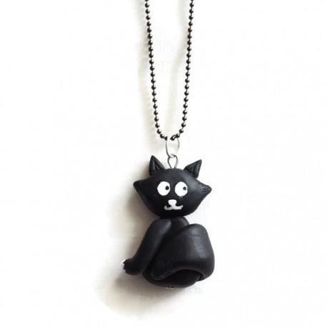 Collier Chat noir et blanc