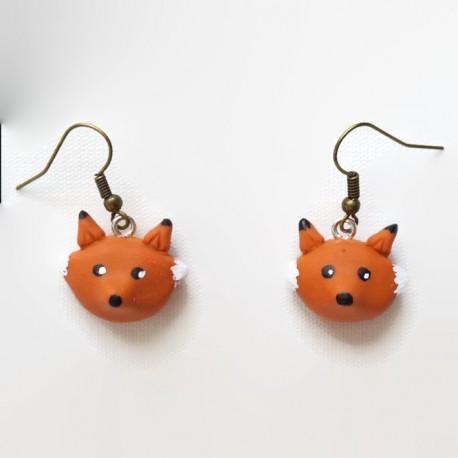Boucles d'oreilles Renard roux