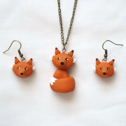 Red fox jewel set